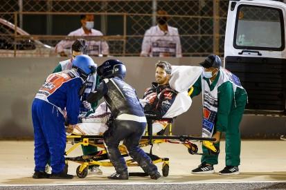 Grosjean to remain in hospital overnight after Bahrain F1 crash