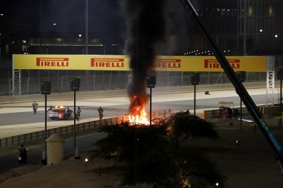 Bahrain GP red-flagged after Grosjean fireball crash on opening lap