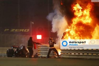 "Wait for Grosjean to escape Bahrain F1 crash fire ""felt like ages"" - Van der Merwe"