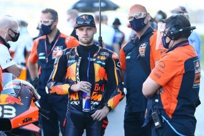 "Binder ""surprised"" to be top MotoGP rookie despite several crashes"