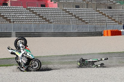 "Crutchlow: Valencia crash payback for ""bad qualifying"""