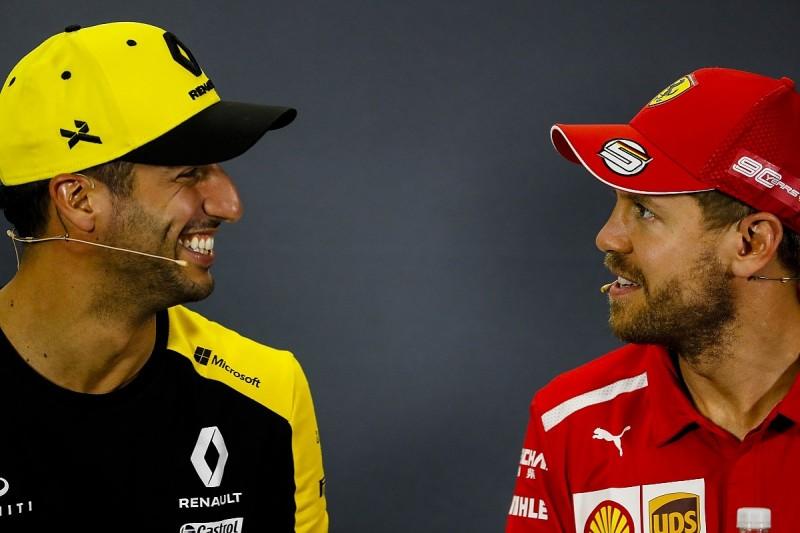 Ricciardo eager for F1 helmet swap with former Red Bull team-mate Vettel