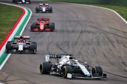 """Russell 'gutted' by """"stupid"""" crash behind safety car at Emilia Romagna GP"""