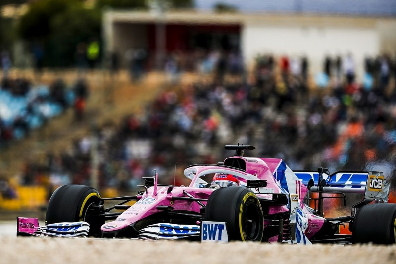 Perez close to F1 grid penalty after reprimand for Gasly move in Portuguese GP