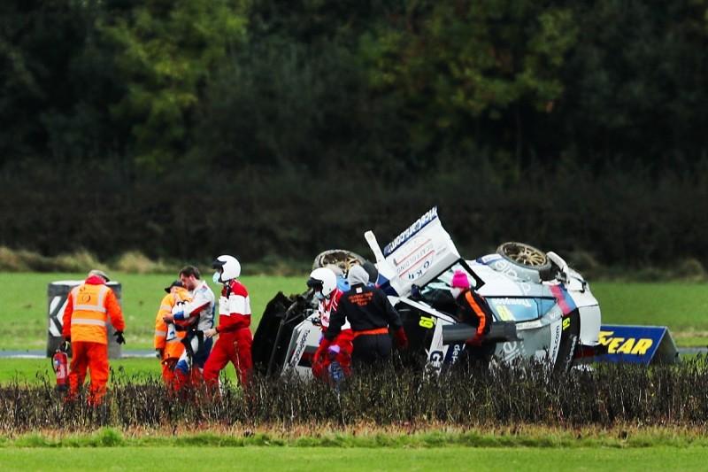 BTCC racer Thompson needs medical check after Croft barrel-roll