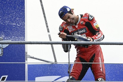French MotoGP: Petrucci wins dramatic wet race ahead of Marquez, title rivals struggle