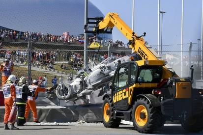 Russell praises Tecpro barrier after Aitken/Ghiotto Sochi F2 shunt