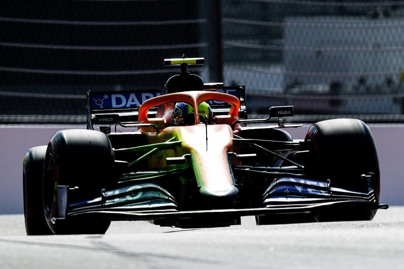 McLaren continues to run revised Mercedes-style nose in F1 Russian GP practice