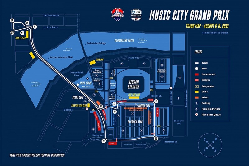 Nashville to host IndyCar street race in 2021 season