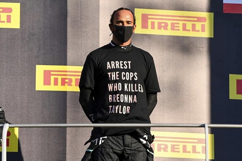 FIA looking into Hamilton anti-racism T-shirt at F1 Tuscan GP