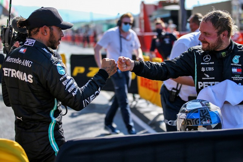 """Hamilton: """"Pressure higher than ever"""" at Mugello after Bottas' F1 practice pace"""