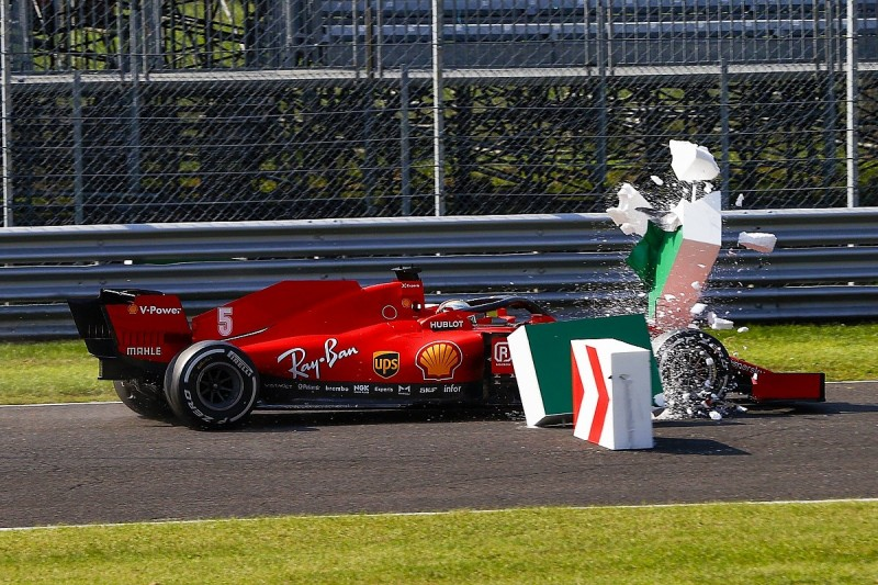 Vettel: No fans at Monza a good thing after Ferrari double DNF in Italian GP