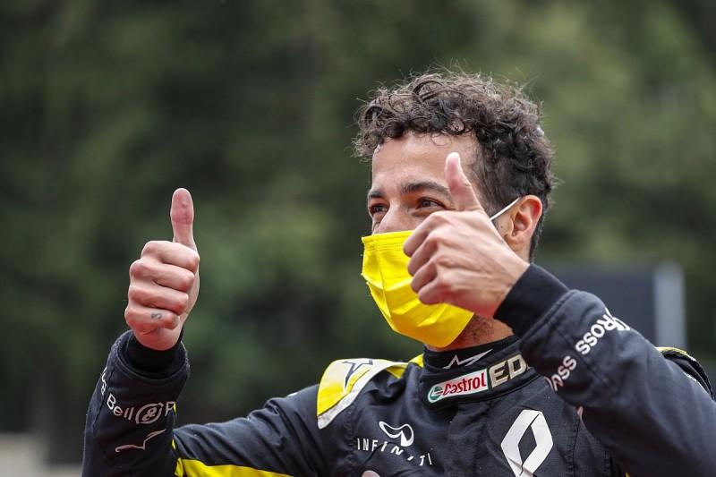 "Ricciardo: Renault F1 car feels ""happier"" in lower-downforce Belgian GP trim"