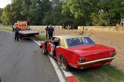 Steve Soper unscathed after Brands Hatch Historic Masters shunt