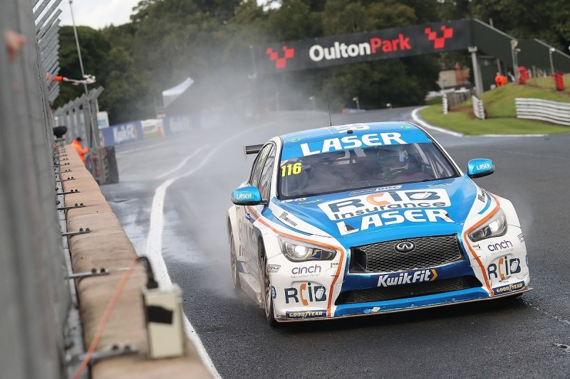 BTCC Oulton Park: Sutton supreme in wet to win race two from Butcher