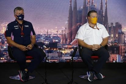 McLaren boss Brown hits back at Szafnauer's historic racing jibe
