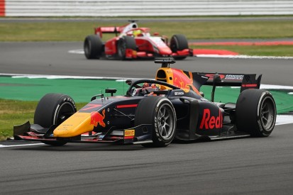 Silverstone F2: Tsunoda handed sprint win after Prema's drivers clash
