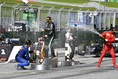 McLaren F1's Norris reacts to VR46 Moto3 rider's podium gaffe