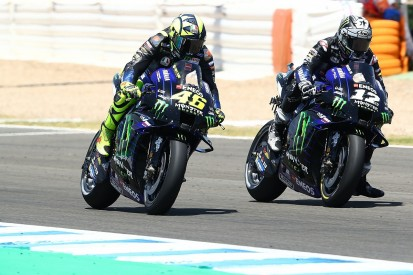 """Vinales """"couldn't breathe"""" behind MotoGP team-mate Rossi in Andalusian GP"""