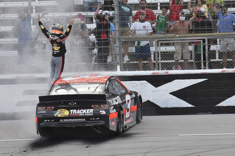 NASCAR Cup Texas: Dillon brushes off late restarts to book play-off place