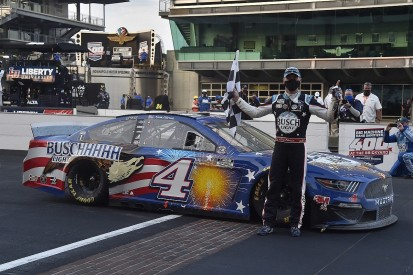 NASCAR Brickyard 400: Harvick wins, Penske mechanic injured after pit road crash