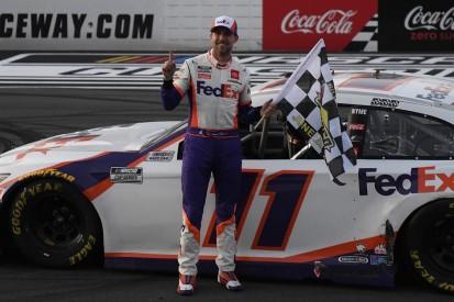 NASCAR Pocono: Hamlin beats Harvick in second Cup Series race of the weekend