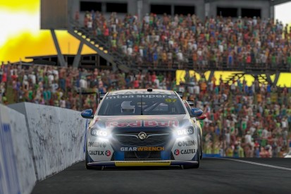 Van Gisbergen wins Supercars Eseries despite late scare