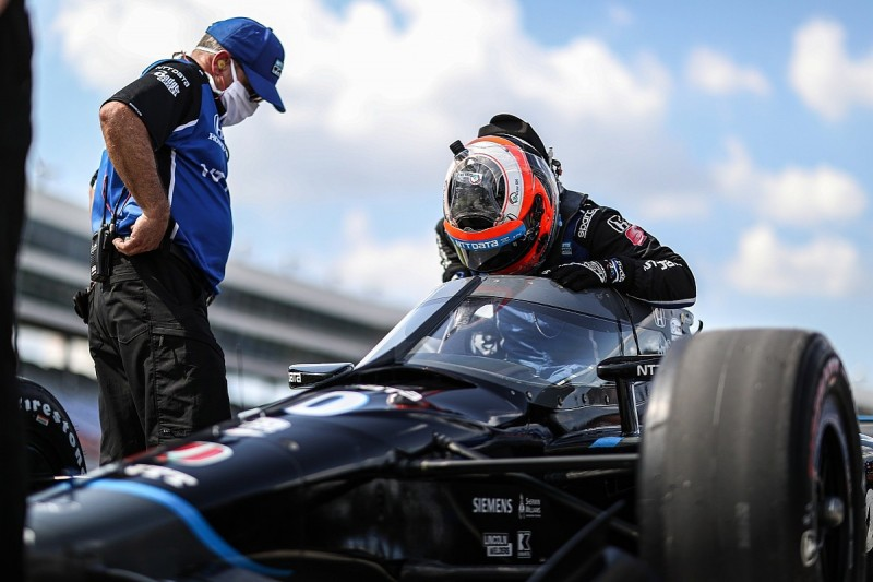 """IndyCar News: Rosenqvist """"can't blame"""" Hinchcliffe for late crash"""