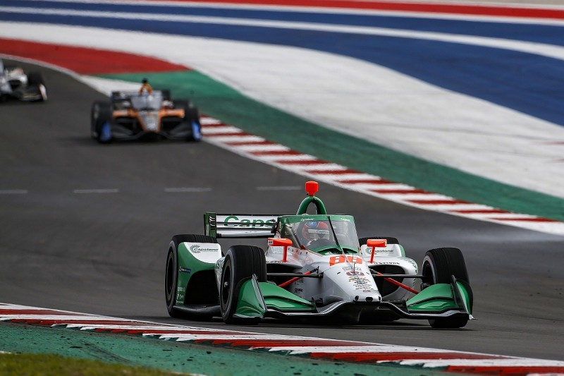 """Andretti IndyCar trailer fire causes """"minor"""" damage to Herta's car"""