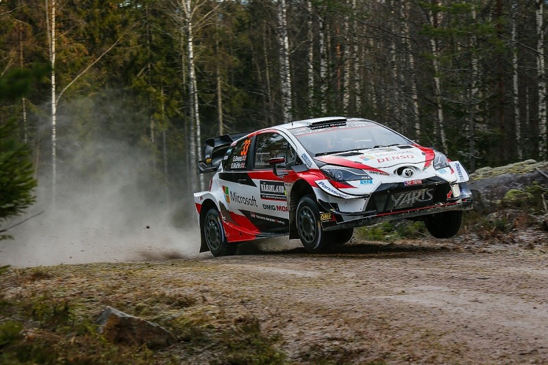 Toyota's Evans leads first day of shortened Rally Sweden over Tanak