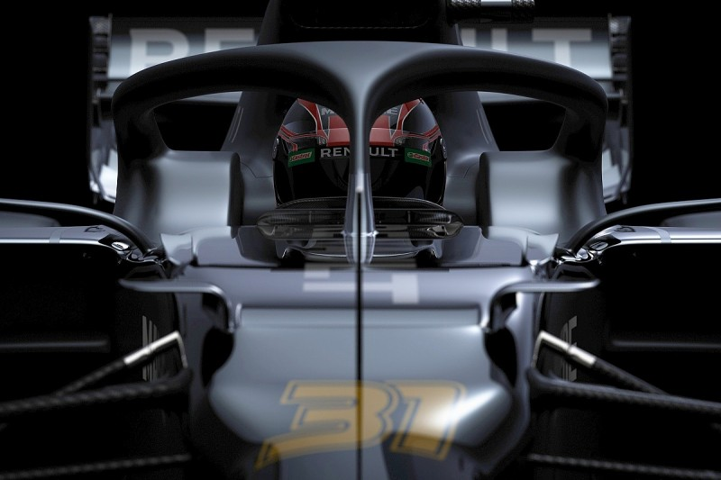 Renault offers only glimpses of 2020 F1 car at launch event