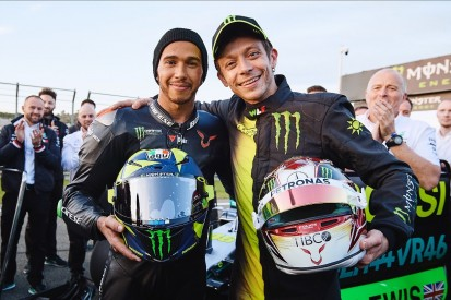 Hamilton, Rossi complete long-awaited F1/MotoGP ride-swap