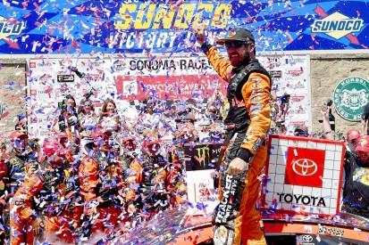 Sonoma NASCAR: Truex fends off JGR Toyota team-mate Busch to win