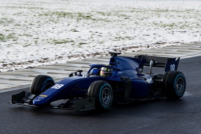New Formula 2 cars shaken down by teams at snowy Magny-Cours