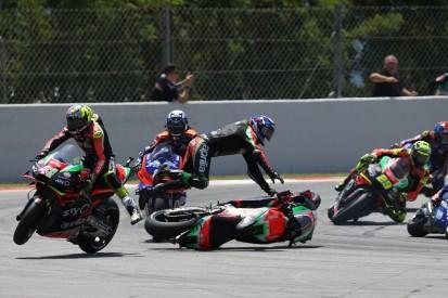 "Smith felt ""sheer panic"" in clash with Aprilia MotoGP team-mate"