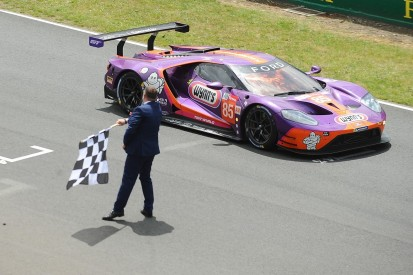 Winning GTE Am Ford GT excluded handing Project 1 Porsche victory