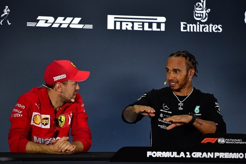 Vettel couldn't see Hamilton alongside at start of F1's Mexican GP