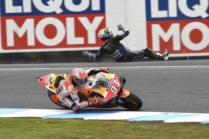 Phillip Island MotoGP: Vinales crash on final lap gifts Marquez win