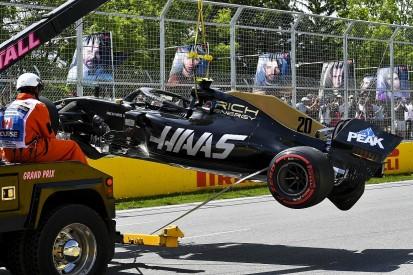 Canadian GP qualifying crash consigns Magnussen to pitlane start