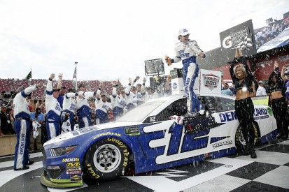 Talladega NASCAR: Ryan Blaney wins crash-strewn race for Penske