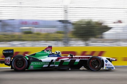 Audi's Muller sets record pace in Formula E Marrakech rookie test