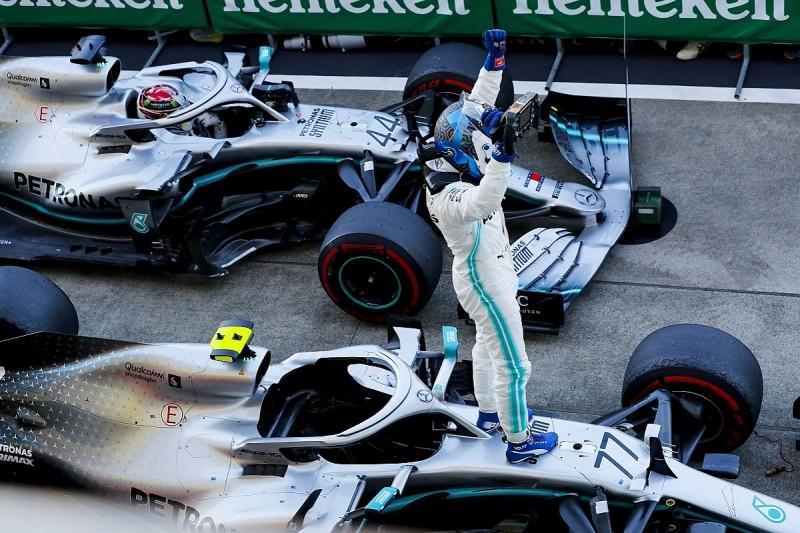 Japanese Grand Prix: Bottas wins as Mercedes seals constructors'