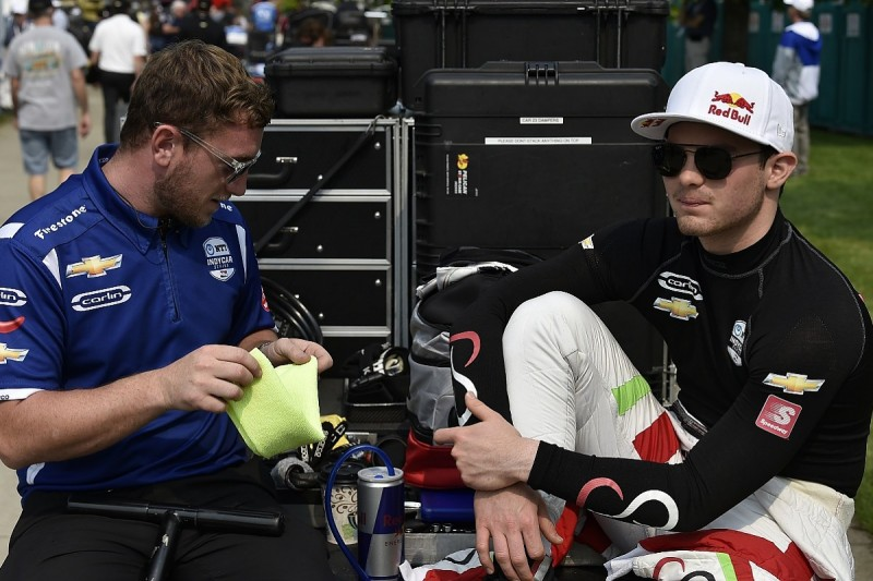 Red Bull's O'Ward to miss rest of oval races in Carlin IndyCar deal