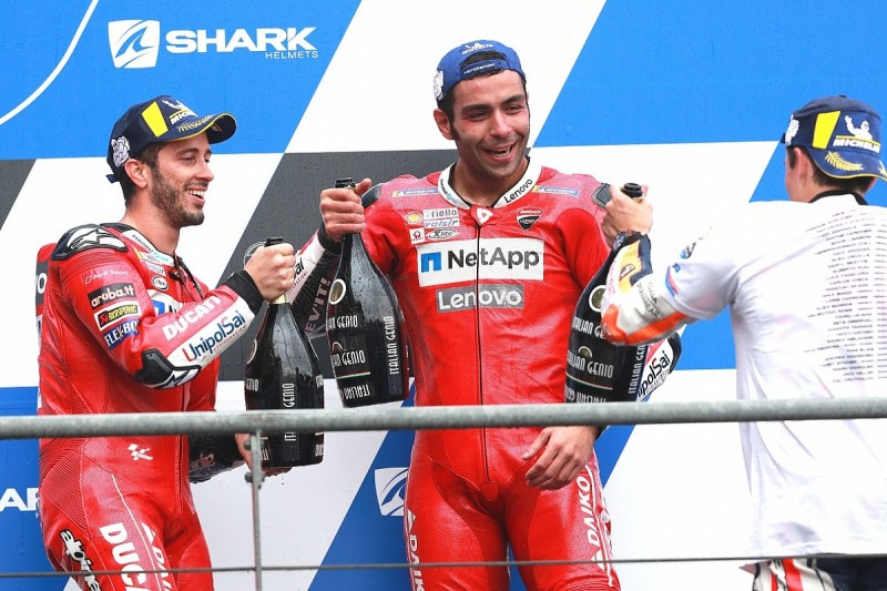 Ducati MotoGP team's nerves over Danilo Petrucci have been eased
