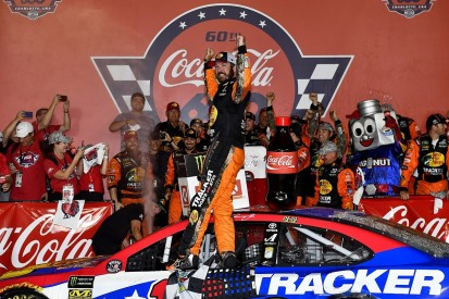 Charlotte NASCAR: Martin Truex Jr recovers from wall hit to win