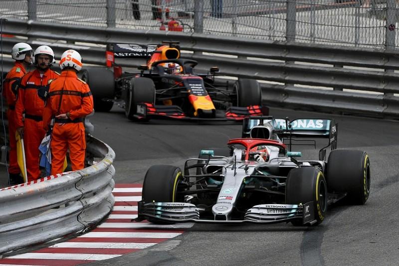 Monaco Grand Prix: Hamilton escapes contact with Verstappen to win
