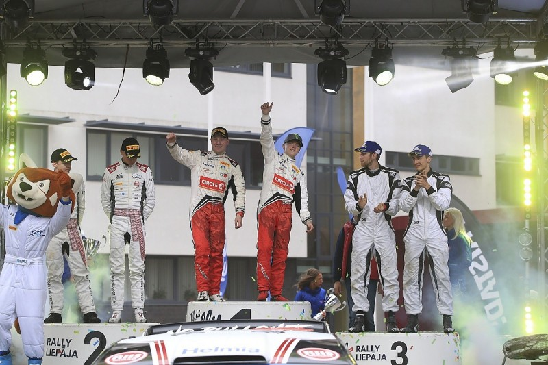 Oliver Solberg, son of Petter, wins on ERC top class debut