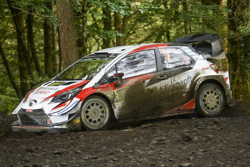 Rally GB WRC: Toyota's Meeke holds Friday morning lead of home round