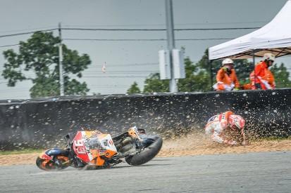 """Lucky"" Marquez declared fit for Thailand MotoGP after huge crash"