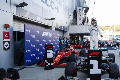 Russian Grand Prix: Hamilton wins after Ferrari's race implodes
